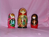 Christmas themed Matrushka dolls
